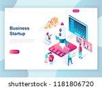 modern flat design isometric... | Shutterstock .eps vector #1181806720