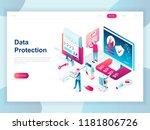 modern flat design isometric... | Shutterstock .eps vector #1181806726
