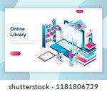 modern flat design isometric... | Shutterstock .eps vector #1181806729