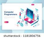 modern flat design isometric... | Shutterstock .eps vector #1181806756