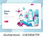 modern flat design isometric... | Shutterstock .eps vector #1181806759