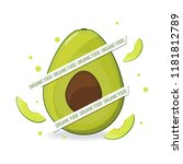 organic food web banner....   Shutterstock .eps vector #1181812789