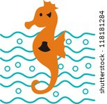 graphical vector seahorse | Shutterstock .eps vector #118181284