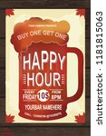 happy hour retail shopping... | Shutterstock .eps vector #1181815063