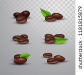 isolated coffee beans . coffee...   Shutterstock .eps vector #1181815879