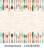 multicolored silverware... | Shutterstock . vector #118181830