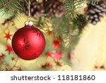 Closeup Of Christmas Ball From...