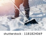 city service cleaning snow... | Shutterstock . vector #1181824069