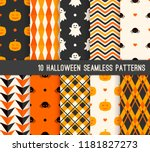 ten halloween different... | Shutterstock .eps vector #1181827273