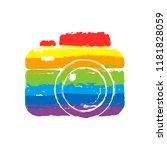 photo camera  simple icon.... | Shutterstock .eps vector #1181828059