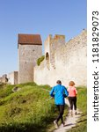 visby  sweden   may 13  2016  a ... | Shutterstock . vector #1181829073