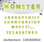 halloween monster paper cut out ... | Shutterstock .eps vector #1181830810