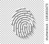 fingerprint. simple icon for... | Shutterstock .eps vector #1181832673
