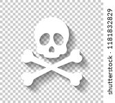 skull and crossed bones. simple ... | Shutterstock .eps vector #1181832829