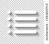 simple list menu icon. white...