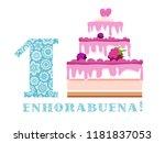 happy anniversary. big berry...   Shutterstock .eps vector #1181837053