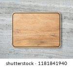 new rectangular wooden cutting...   Shutterstock . vector #1181841940