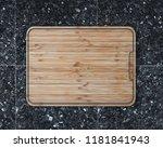 new rectangular wooden cutting...   Shutterstock . vector #1181841943
