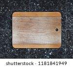 new rectangular wooden cutting...   Shutterstock . vector #1181841949