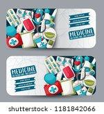 medicine and healthcare...   Shutterstock .eps vector #1181842066