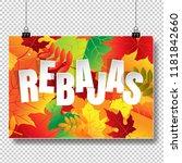 rebajas  sale  autumn banner... | Shutterstock .eps vector #1181842660