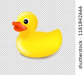 rubber duck isolated... | Shutterstock .eps vector #1181842666
