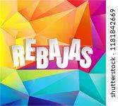 rebajas  sale  background with... | Shutterstock .eps vector #1181842669