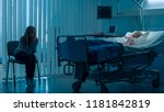 sick little girl lying in the...   Shutterstock . vector #1181842819