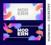 gradient color blob shapes...   Shutterstock .eps vector #1181842969