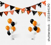 halloween bunting flags with... | Shutterstock .eps vector #1181844190