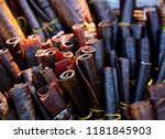 fruit leather roll from apples... | Shutterstock . vector #1181845903