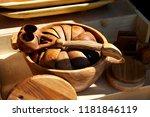 kazakh ethnic wooden utensils... | Shutterstock . vector #1181846119