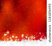 Christmas and New Year vector background with snowflakes and stars