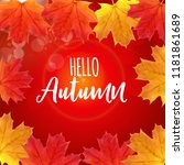 shiny hello autumn natural... | Shutterstock .eps vector #1181861689