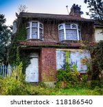A Derelict House With Ivy...
