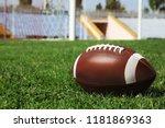 ball on green field grass and... | Shutterstock . vector #1181869363