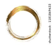 circle frame painted with brush ... | Shutterstock .eps vector #1181869633