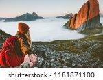 couple romantic follow hands... | Shutterstock . vector #1181871100
