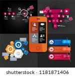infographic concept  vector | Shutterstock .eps vector #1181871406