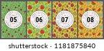 calendar 2019. vector english... | Shutterstock .eps vector #1181875840