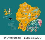 illustrated map of ecuador and... | Shutterstock .eps vector #1181881270