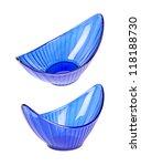 two halfmoonlike blue plastic...   Shutterstock . vector #118188730