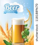 beer poster template for... | Shutterstock .eps vector #1181889670