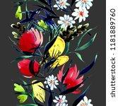 vegetable boh  seamless pattern.... | Shutterstock . vector #1181889760
