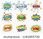 set of speech bubbles comic... | Shutterstock .eps vector #1181895730