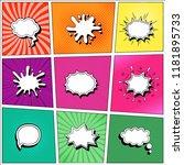 set of speech bubbles comic...   Shutterstock .eps vector #1181895733