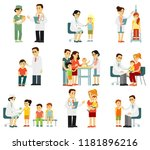 pediatrician doctor and child... | Shutterstock .eps vector #1181896216