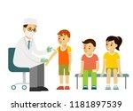 children vaccination concept.... | Shutterstock .eps vector #1181897539