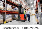 logistic business  shipment and ... | Shutterstock . vector #1181899096