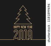 happy new year 2019 greeting... | Shutterstock .eps vector #1181899696